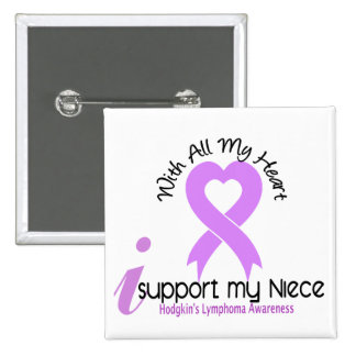 Hodgkins Lymphoma I Support My Niece 2 Inch Square Button
