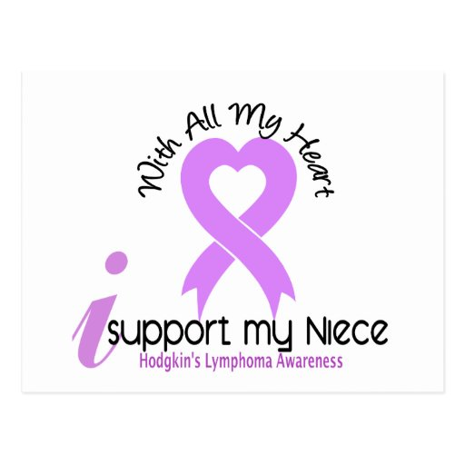 Hodgkins Lymphoma I Support My Niece Post Cards