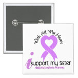 Hodgkins Lymphoma I Support My Sister Pinback Button
