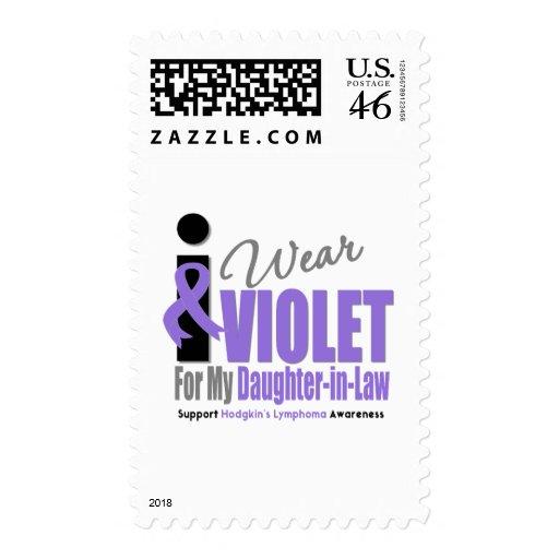 Hodgkins Lymphoma I Wear Violet Daughter-in-Law Stamps