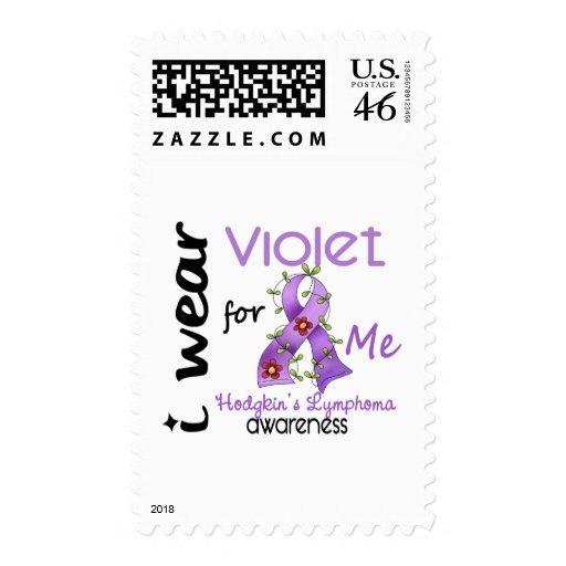 Hodgkins Lymphoma I Wear Violet For Me 43 Stamps