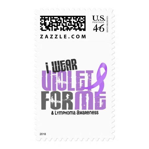 Hodgkins Lymphoma I Wear Violet For ME 6.2 Stamp