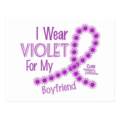 Hodgkins Lymphoma I Wear Violet For My Boyfriend Post Card