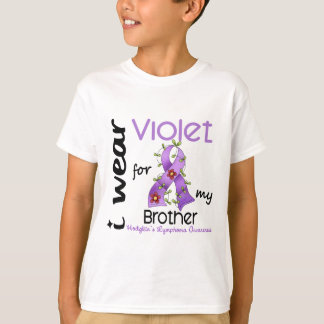 Hodgkins Lymphoma I Wear Violet For My Brother 43 T-Shirt