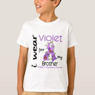 Hodgkins Lymphoma I Wear Violet For My Brother 43 T-Shirt