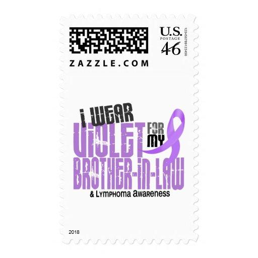 Hodgkins Lymphoma I Wear Violet For My Brother-In- Postage Stamp