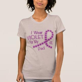 Hodgkins Lymphoma I Wear Violet For My Dad 26 T-Shirt
