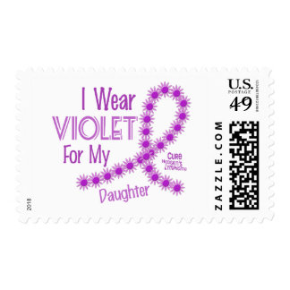 Hodgkins Lymphoma I Wear Violet For My Daughter 26 Postage