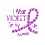 Hodgkins Lymphoma I Wear Violet For My Daughter 26 Postcard