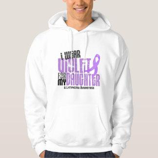Hodgkins Lymphoma I Wear Violet For My Daughter 6 Hoodie