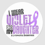 Hodgkins Lymphoma I Wear Violet For My Daughter 6 Round Stickers