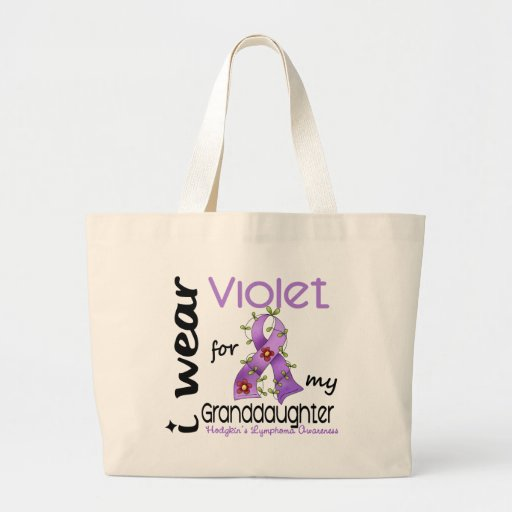 Hodgkins Lymphoma I Wear Violet For My Granddaught Jumbo Tote Bag