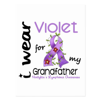 Hodgkins Lymphoma I Wear Violet For My Grandfather Postcard