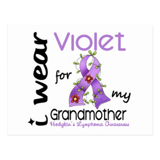 Hodgkins Lymphoma I Wear Violet For My Grandmother Postcard