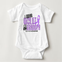 Hodgkins Lymphoma I Wear Violet For My Grandpa 6.2 Baby Bodysuit