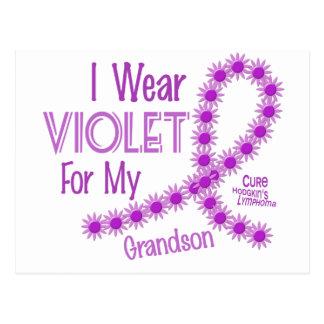 Hodgkins Lymphoma I Wear Violet For My Grandson 26 Postcard