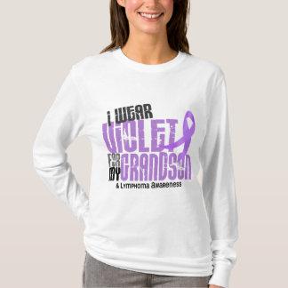 Hodgkins Lymphoma I Wear Violet For My Grandson 6. T-Shirt