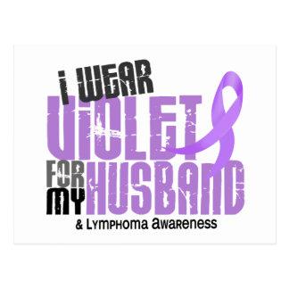 Hodgkins Lymphoma I Wear Violet For My Husband 6.2 Postcard