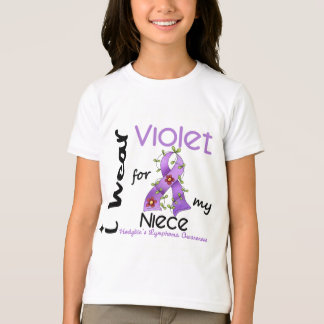 Hodgkins Lymphoma I Wear Violet For My Niece 43 T-Shirt