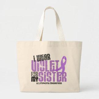 Hodgkins Lymphoma I Wear Violet For My Sister 6.2 Large Tote Bag