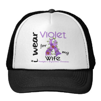 Hodgkins Lymphoma I Wear Violet For My Wife 43 Trucker Hat