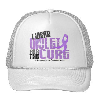 Hodgkins Lymphoma I Wear Violet For The Cure 6.2 Trucker Hat