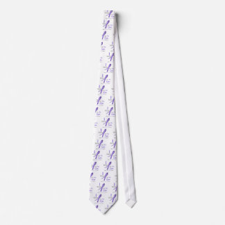 Hodgkin's Lymphoma I Wear Violet Ribbon For My Son Neck Tie