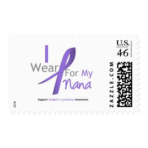 Hodgkin's Lymphoma I Wear Violet Ribbon For Nana Stamps