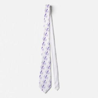 Hodgkin's Lymphoma I Wear Violet Ribbon For Wife Neck Tie