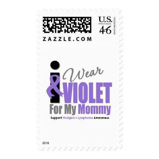 Hodgkins Lymphoma I Wear Violet Ribbon Mommy Stamp