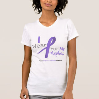 Hodgkin's Lymphoma I Wear Violet Ribbon  Nephew Shirt