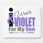 Hodgkins Lymphoma I Wear Violet Ribbon Son Mouse Pad