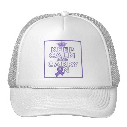 Hodgkins Lymphoma Keep Calm and Carry ON Mesh Hat