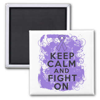 Hodgkins Lymphoma Keep Calm and Fight On 2 Inch Square Magnet