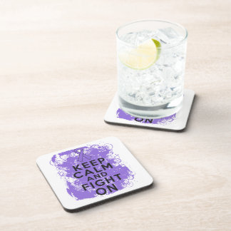 Hodgkins Lymphoma Keep Calm and Fight On Drink Coasters