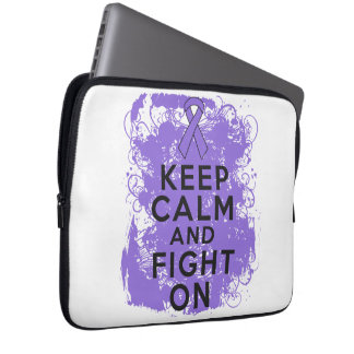 Hodgkins Lymphoma Keep Calm and Fight On Laptop Sleeves