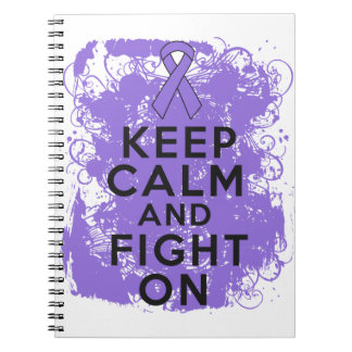 Hodgkins Lymphoma Keep Calm and Fight On Notebooks