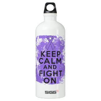 Hodgkins Lymphoma Keep Calm and Fight On SIGG Traveler 1.0L Water Bottle