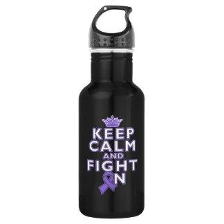 Hodgkins Lymphoma Keep Calm Fight On 18oz Water Bottle
