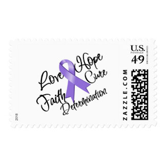 Hodgkin's Lymphoma Love Hope Determination Postage Stamp