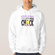 Hodgkins Lymphoma Messed With The Wrong Chick Hoodie