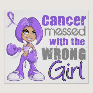 Hodgkins Lymphoma Messed With Wrong Girl Poster