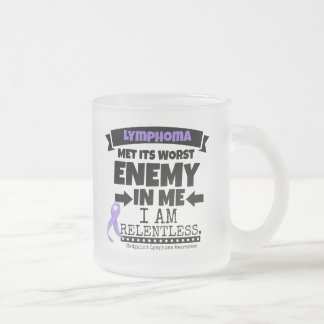 Hodgkin's Lymphoma Met Its Worst Enemy in Me Frosted Glass Coffee Mug