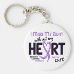 Hodgkins Lymphoma Miss With All My Heart Aunt Basic Round Button Keychain