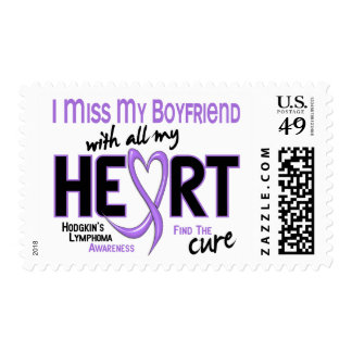 Hodgkins Lymphoma Miss With All My Heart Boyfriend Postage Stamp