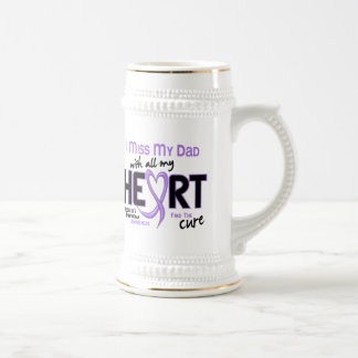 Hodgkins Lymphoma Miss With All My Heart Dad 18 Oz Beer Stein