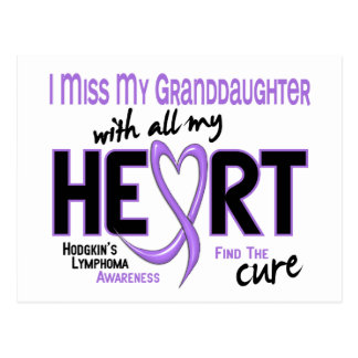 Hodgkins Lymphoma Miss With All My Heart Granddaug Postcard