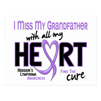 Hodgkins Lymphoma Miss With All My Heart Grandfath Postcard