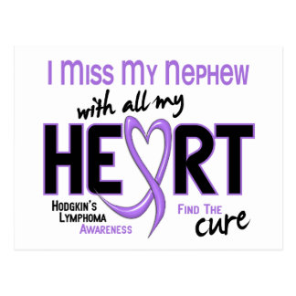 Hodgkins Lymphoma Miss With All My Heart Nephew Postcard