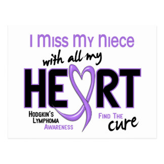 Hodgkins Lymphoma Miss With All My Heart Niece Postcard